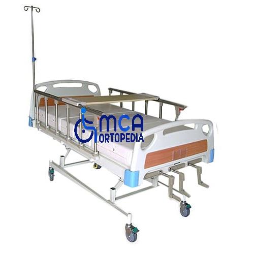cama clinica de 3 manivelas marron
